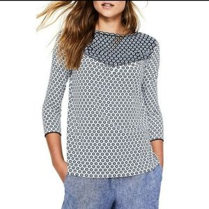 Boden Natasha Star Printed Jersey Top
